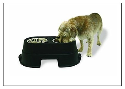 Elevated Feeder – IRIS non-spill dog bowl